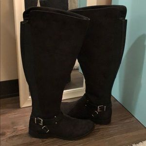Bar III wide calf tall boots
